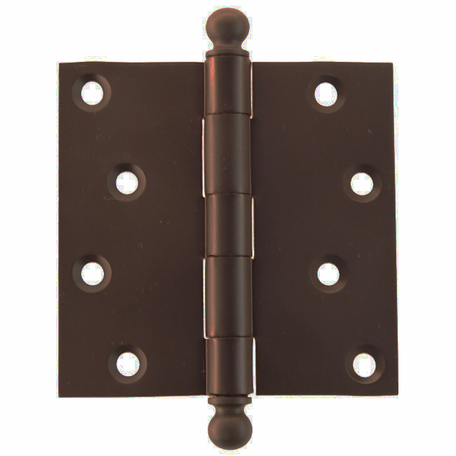 "Door Hinge with Ball Tip 4""x4"" Oil Rubbed Bronze"