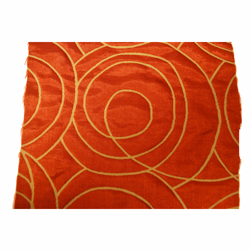 F31- Red with Circle Pattern