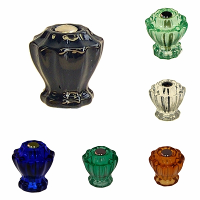 Fluted Glass Knobs