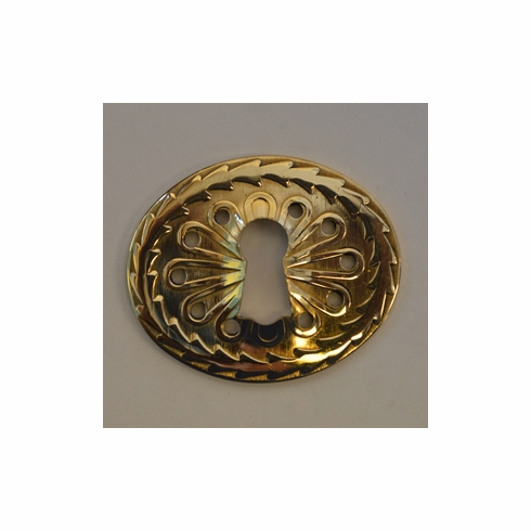 Heavy Stamped Brass Keyhole Cover