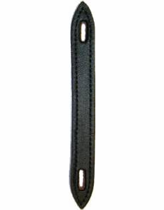 Black Leather Trunk Handle with Pointed Ends