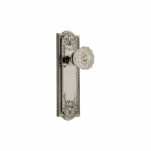 Meadows Backplate and Crystal Knob, Privacy, Satin Nickel
