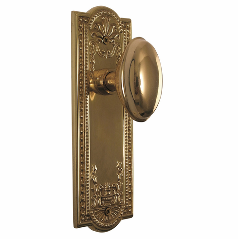 Meadows Backplate and Homestead Knob, Passage, Brass