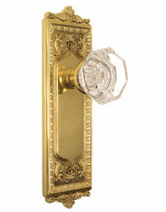 Meadows Backplate and Waldorf Knob, Passage, Brass