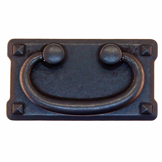 """Mission Style Drawer Pull-3"""" Distressed Black"""