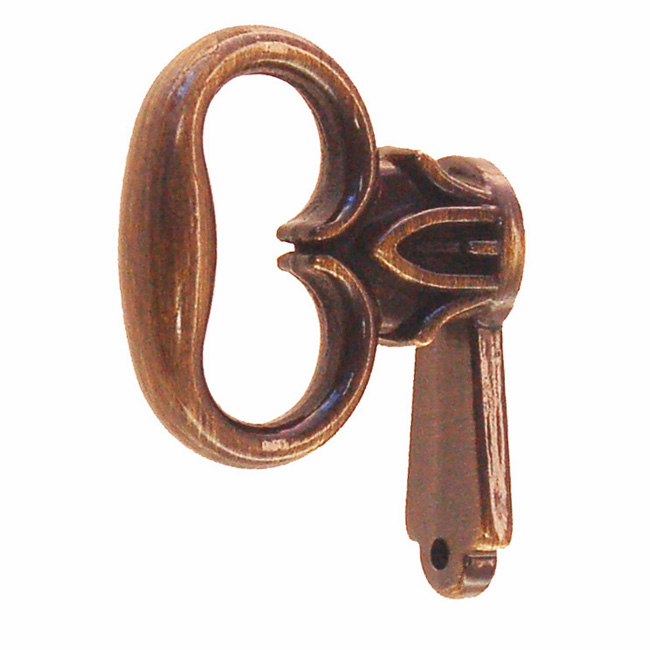 Mock Door Key - Antique Brass
