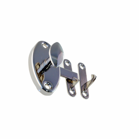 Nickel - Oval Cabinet Latch