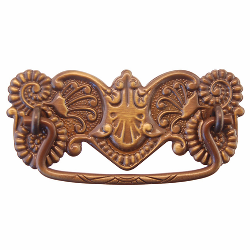 Ornate Antique Brass Drawer Pull- 3""