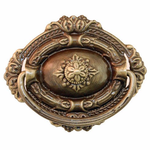 Ornate Antique Brass Handle-Single Post