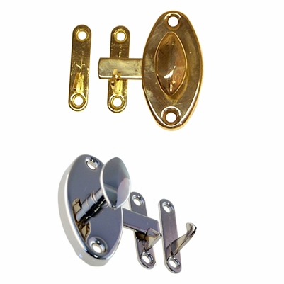 Oval Cabinet Latches<BR>2 Finish Options