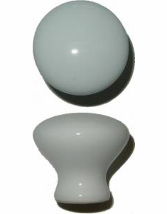 Porcelain Knobs Rear-Mounting