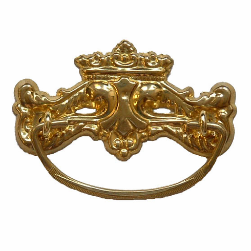 Stamped Brass Drawer Pull-3""