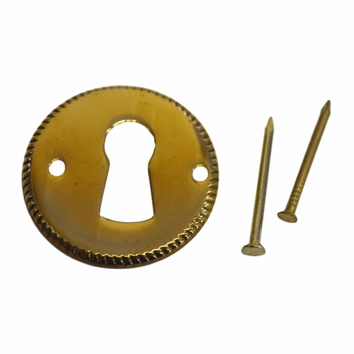 Stamped Brass Keyhole Cover - Round