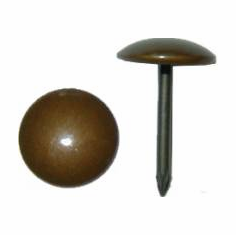 """Upholstery Tack - 3/8"""" Head, 1/2"""" Shaft - Old Brass Finish Qty35"""