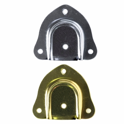 Trunk Handle Caps - Brass and Nickel