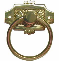 Victorian Eastlake Style Single Post Ring Pull