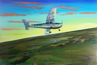 "1974 Official Class Painting ""Dawn Patrol Solo"""