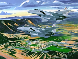 "1988 Commemorative Clas Painting ""Eagles On High"""