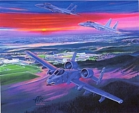 "1998 Official Class Print  ""Red Storm Flight"" Lithograph"