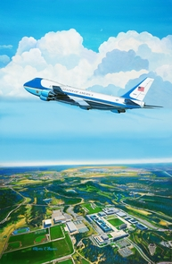2012 Obama Air Force One: SALE $425.00 Canvas