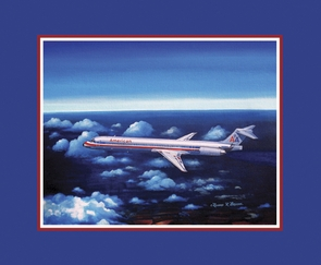 American Airlines MD-80 Limited Edition Paper Giclee