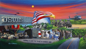 """""""CARING FOR THOSE IN HARMS WAY"""" Canvas Editions"""