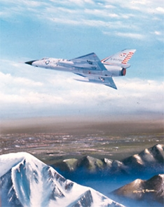 F-106 over Mountains 11x14 Canvas