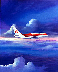Frontier Airlines 737 New Colors 11x14 Canvas