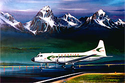 Frontier Airlines CV-340 Jackson Hole