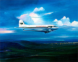 Frontier Airlines DC-3 11x14 Canvas