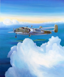 Mitchell B-25 Over The Pacific