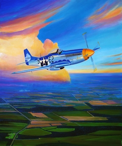 P-51 Mustang over Great Britain