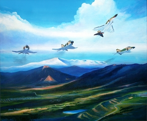 Phantoms in Tribute 24th Squadron Canvas 25x30: SALE $395.00