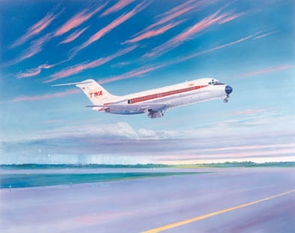 TWA DC-9-14 16x20 Canvas