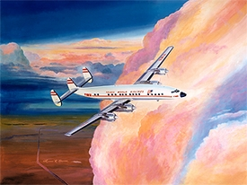 TWA L-1649 Connie Canvas Editions