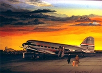 United Airlines DC-3 Sunset Strip