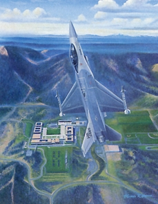 "USAFA 1985 Official Class Print ""Parents Weekend""  Canvas"