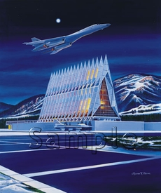"""USAFA 2001 Commemorative Class Print """"Fired Up!"""" Canvas Editions"""
