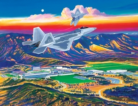 """USAFA 2002 """"No Limits"""" Official Class Painting Canvas & Lithographs"""