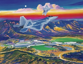 """USAFA 2002 Official Class Painting """"No Limits"""" Canvas Editions"""