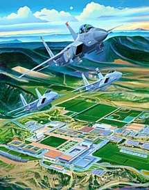 """USAFA 2003 Class Print """"The Strong & the Mighty"""""""