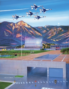"""USAFA 2005 """"To Match My Mountains..."""" Canvas Editions"""