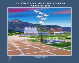 """USAFA 2006 """"The Power of His Knowledge"""" Canvas & Paper Editions"""