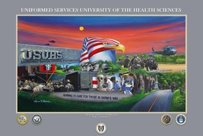 "USUHS Tribute Painting ""Caring for Those in Harms Way"""