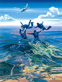 Wings of Blue Limited Edition Lithograph