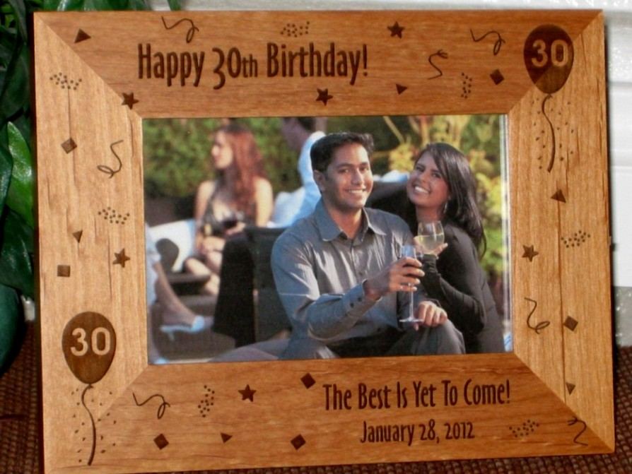 30th Birthday Picture Frame - Personalized Frame - Laser Engraved ...