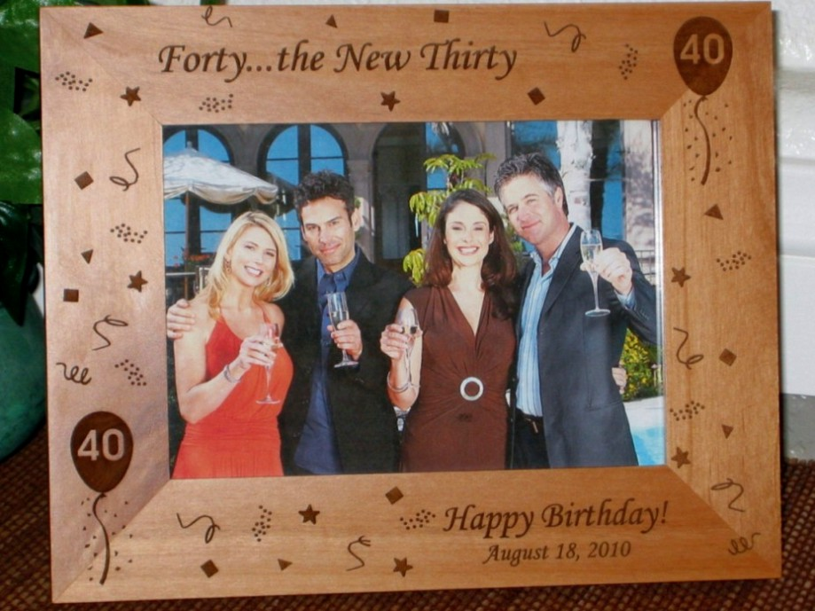 40th Birthday Picture Frame