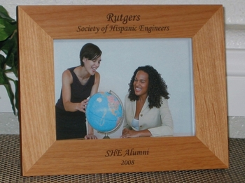 Alumni Picture Frame - Personalized Frame - Laser Engraved Text