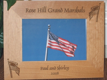 American Flag Picture Frame - Personalized Frame - Laser Engraved American Flags