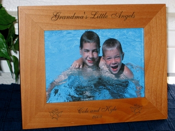 Angel Picture Frame - Personalized Frame - Laser Engraved Angel